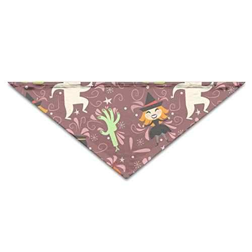 OLOSARO Dog Bandana Happy Halloween Witch Party Triangle Bibs Scarf Accessories for Dogs Cats Pets Animals -