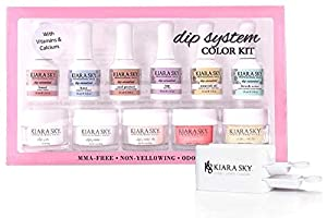 Kiara Sky Dip System Color Starter Kit - With Clear Coat