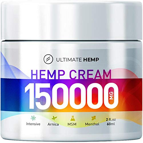 Hemp Ultimate Pain Relief Cream - Relieves Muscle, Joint Pain, Lower Back Pain, Knees, and Fingers - Inflammation - Hemp Extract