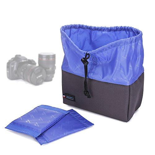 Camera Insert Backpack Bag Divider Dslr Lens Protector Pouch Interior Inner Case Liner Padded Organizer for Canon Sony Olympus (L, 24*12*14 (Camera Bag Pouch)