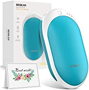 BESKAR Rechargeable Hand Warmer -7800mAh Reusable Battery Electric USB Hand Warmers, Longer Warming Time, Port