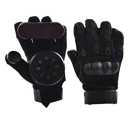 Nimbus Skateboard Slide Gloves Longboard Downhill Slide Gloves Standard Skate Gloves with 2 Slider Puck Set - Standard Puck Slider