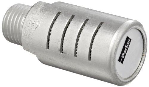Parker ES75MC Aluminum Exhaust Silencer, 3/4' NPTF, 893 scfm Flow, 2.01' Diameter x 4.56' Length, 250 psi