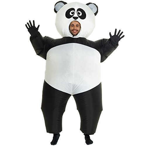 Giant Panda Inflatable Blow Up Costume Costume - One size fits (Halloween Panda Costume)