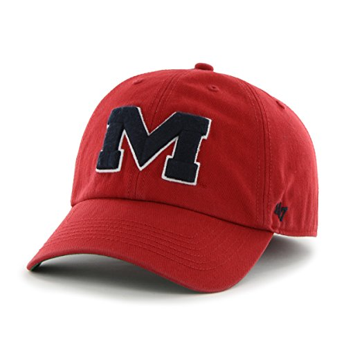 ('47 NCAA Mississippi Ole Miss Rebels Franchise Fitted Hat, Red, Large)