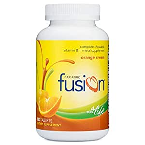 Bariatric Fusion Complete Chewable Multivitamin and Mineral Supplement Orange Cream 120 Tablets for...