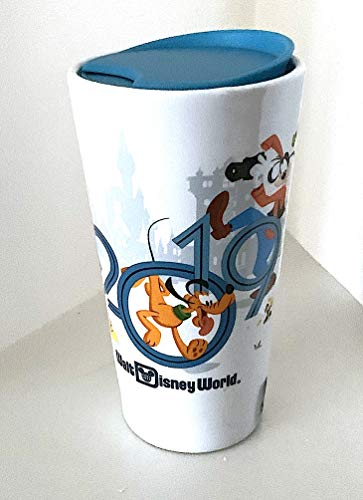 (Walt Disney World 2019 Mickey Mouse and Pals Character Ceramic Tumbler with Lid)