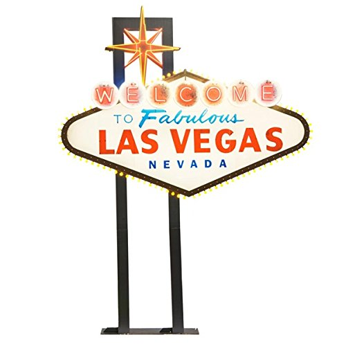 Welcome to Vegas Sign Kit - 10 Feet, 10 Inches High x 8 Feet, 6 Inches Wide x 10 Inches Deep