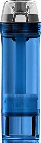 (Thermos NSF/ANSI 53 Certified 22 Ounce Tritan Water Filtration Bottle, Blue)
