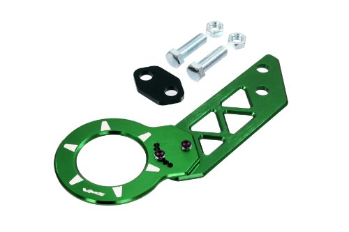 GREEN REAR ADJUSTABLE T6061 CNC Billet Anodized Aluminum Towing TOW HOOK for Honda Civic 92 93 94 95 96 97 98 99 00 1992 1993 1994 1995 1996 1997 1998 1999 2000 (Brand New – Totally REDESIGNED) JDM – All Models