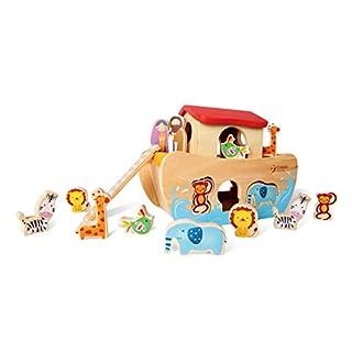 Classic World Noah's Ark Shape Sorter Premium Wooden Toy for Kids