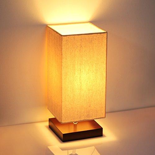 SHINE HAI Minimalist Solid Wood Table Lamp 41yBqS3THyL