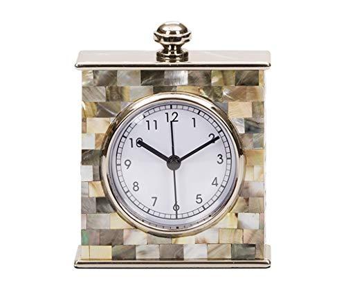 (ZGP % Desk Clock American Style Living Room Decoration Decoration Creative Fashion Bedroom Desktop Mother-of-Pearl Clock Classic Clock )