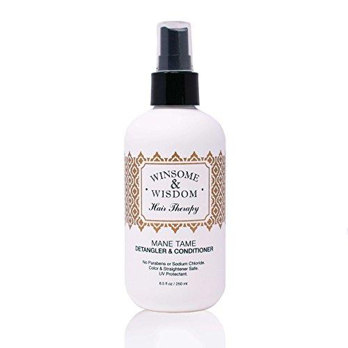 Mane Tame 8 oz Hair Detangler Spray For Women Cruelty Free Leave In Conditioner Curly Hair Men Kids Alcohol Paraben Free…