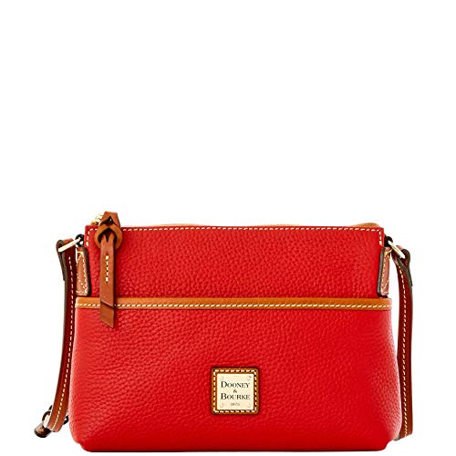 (Dooney & Bourke Pebble Grain Ginger Pouchette Shoulder Bag, Red )