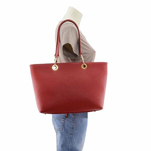 des cuir Rouge Sac de glands style avec en panier 6gxZqzpP
