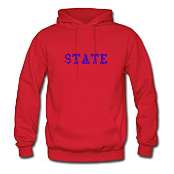 State (blue Vintage) Red Custom Women Unofficial Hoodies - X-large