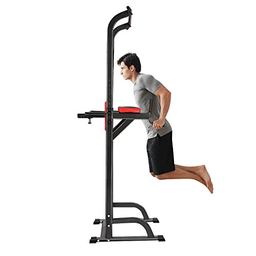 Hufcor Pull Up Stand Full Body Power Tower Adjustable Power Tower Strength Power Tower Fitness Workout Station by Hufcor (Image #1)