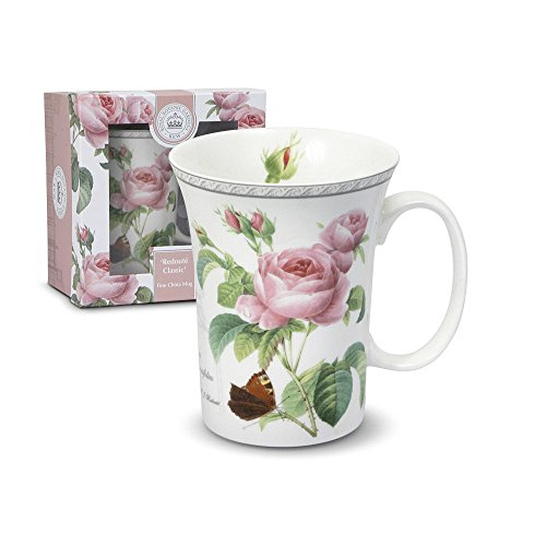 Royal Botanic Gardens Kew Redoute Classic Porcelain Mug with Gift Box, 12-Ounce
