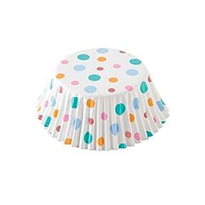 Fox Run 7190 Happy Dots Foil-Lined Bake Cups, Standard, 24 Cups
