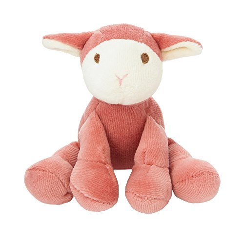 Simply Fido Lolly 4-Inch Lamb Pink with Squeaker Dog Toy