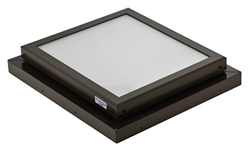 Sunoptics SUN R2020 FLAT TGZ 50CC2 800MD BZ  2-Feet by 2-Feet Triple Glazed Fixed Curb-Mounted Prismatic Flat Skylight, Bronze by Sunoptics