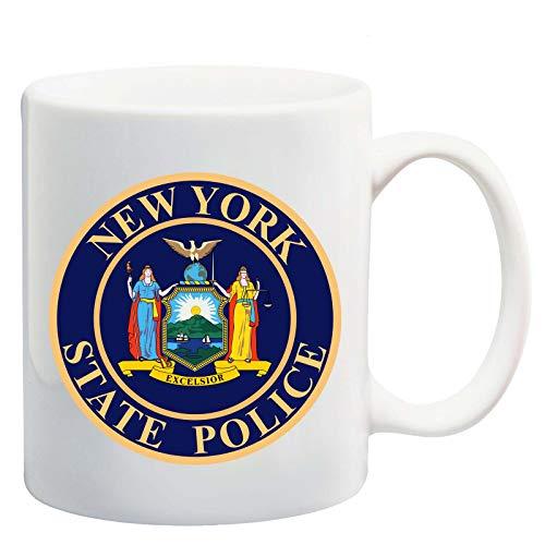 Manglam Mart New York State Police Logo White Tea Coffee Mug Ceramic Coffee Tea Cup