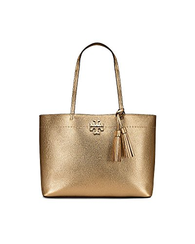 Tory Burch Pebbled Leather McGraw Tote - Bag Tory Gold Burch