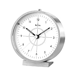 Bulova B6844 Flair Clock, Brushed Finish