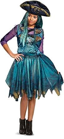 Girl's Classic Disney Descendants 2 Isle Look Uma Costume Bundle Large 10-12