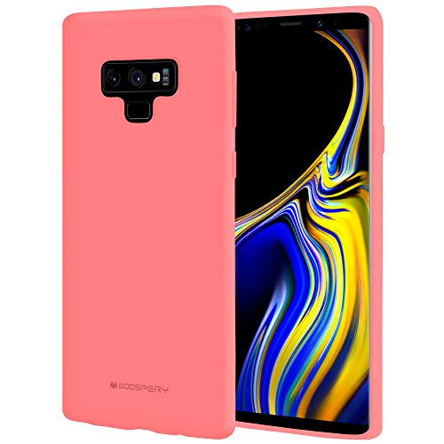 Galaxy Note 9 Case, [Silky] GOOSPERY [Slim Fit] Soft Feeling [Flexible] Rubber TPU Case [Lightweight] Bumper Cover [Protection] for Samsung Galaxy Note 9 (Flamingo) NT9-SFJEL-PNK