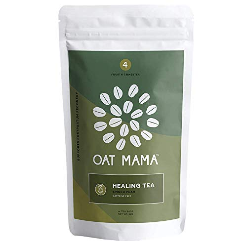 Healing Tea for Postpartum Recovery by Oat Mama - 4th Trimester Support - Reduces Inflammation, Calms Anxiety, and Helps Balance Hormones, Organic Spiced Pear Herbal Blend, 14 count