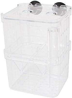 eDealMax Las capas dobles de plástico acuario criadero de peces de cría caja de aislamiento