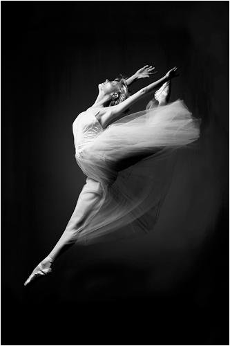 Art print ballerina grace in motion 24x36 poster print