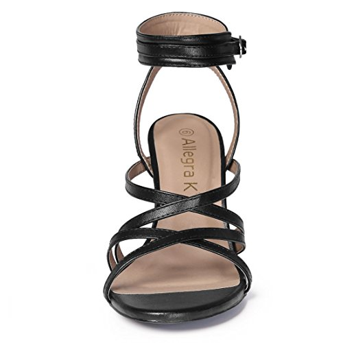 Black Heel Allegra Flange Sandals K Face Stiletto Lady gqAFgY0