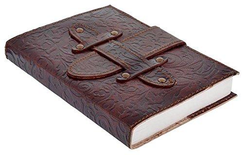 Handicraft Journal Print Handmade Leather Embossed With Belt Christmas (Cotton Embossed Belt)
