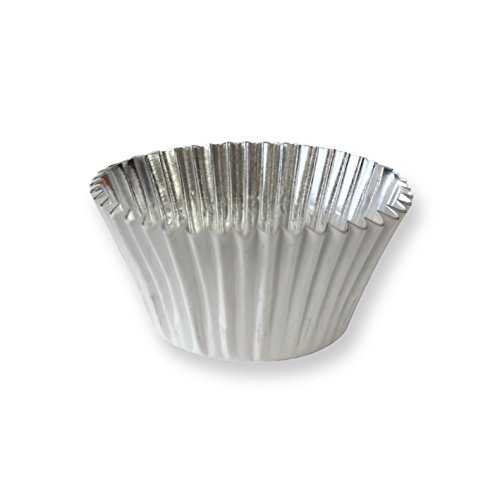 PME BC769 Deep Foil Lined Cupcake Baking Cups, Standard, White