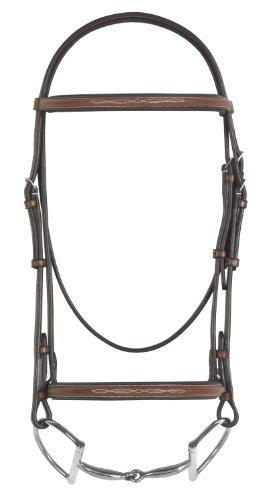 Pessoa Pony (Pessoa Fancy Padded Bridle w/Reins Horse Dk Brown)