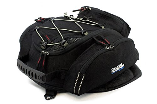 Chase Harper 6XM Expandable Tank Bag Black One Size CHRAS6XM Water-Resistant, Tear-Resistant, Industrial Grade Ballistic Nylon with Anti-Scratch Rubberized Polymer Bottom, Super Strong Neodymium Magne - Chase Harper Motorcycle