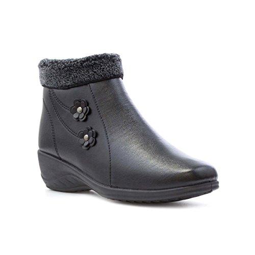 Softlites Womens Black Ankle Boot Black