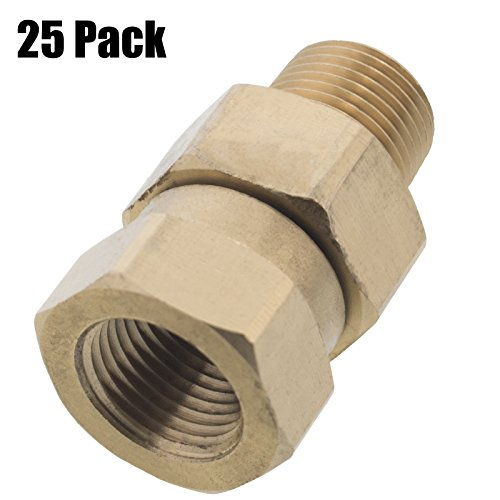 Erie Tools 25 Pressure Washer 3/8 Male to Female NPT Brass Swivel Coupler 3200 PSI by Erie Tools