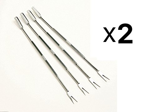 Steel Stainless Fork Norpro (Norpro 801 Stainless Steel Seafood Forks/Picks, Silver, Set of 8)