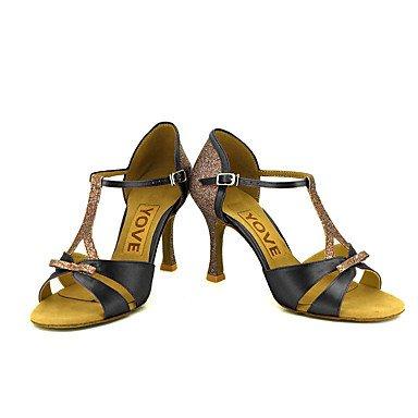 Rojo de Blanco Azul Negro baile Zapatos Personalizado Salsa Amarillo Personalizables Tacón Morado Rosa Latino Black 0q8dwa1