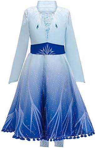[スポンサー プロダクト]GESCHESK アナと雪の女王 プリンセス エルサ 子供 ドレス エルサ 風 ドレス クリスマス ハロウィン コスプレ キッズ ドレス 仮装 キッズコスチューム 子供用 女の子 エルサ 子供用ドレス