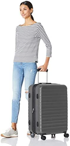 "Amazon Basics 24"" ABS Luggage, Grey"
