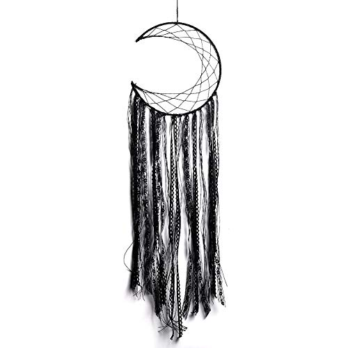 LOMOCRAFT Dream catcher-Handmade Traditional Dream Catcher Wall Hanging Home Decoration Ornament Decor Craft Gift (Black.NO.2)