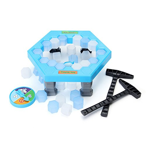 Penguin Trap - Dont Break The Ice Game - Save Penguin Ice Kids Puzzle Game Break Ice Block Hammer Trap Party Toy Pretend Icebreaker Christmast gift for kids