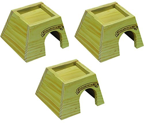 (Super Pet Woodland Get-A-Way Small Mouse House (3 Pack))