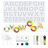 Silicone Resin Molds DIY Resin Casting Molds Tools Set for Resin Jewelry, DIY Art (set4)