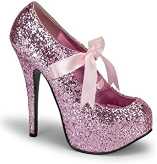 Amazon.com | Sexy Hot Pink Glitter High Heel Platform Pump - 7 | Pumps